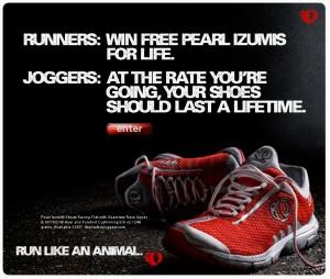 Run v Jog Shoe Ad